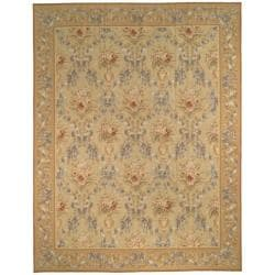 Hand-knotted French Aubusson Beige Wool Rug (12' x 18')