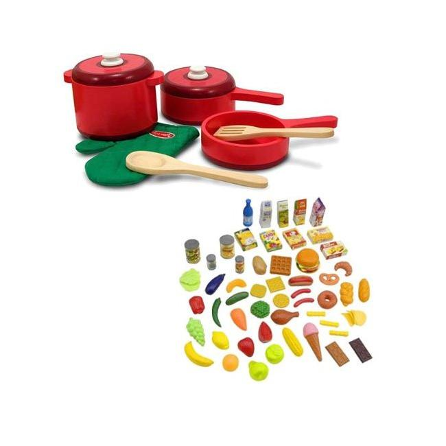 Melissa Doug 52 Piece Deluxe Wooden Kitchen Accessory Set 13037056 Shopping