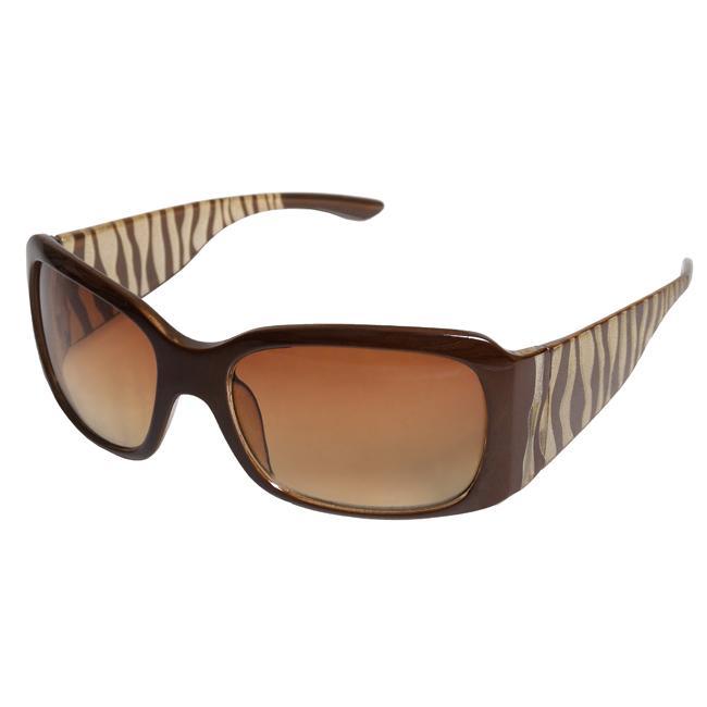 Adi Designs Women's 'CE10217' Zebra Frame Sunglasses