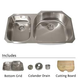Highpoint Stainless Steel 38-inch Undermount 70/30 2-bowl Kitchen Sink