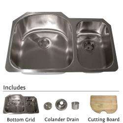 Highpoint Collection Stainless Steel 31-inch Undermount 70/30 2-bowl Kitchen Sink