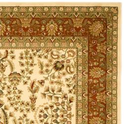 Lyndhurst Collection Oriental Ivory/ Rust Rug (5'3 x 7'6)