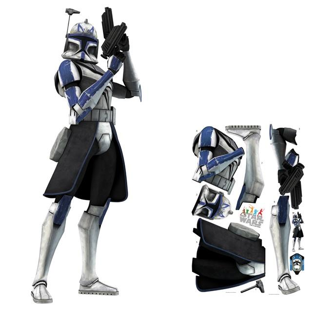 Star Wars Clone Wars Trooper Peel and Stick Giant Wall Decal