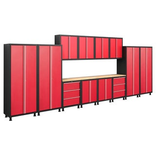 NewAge Products Bold Series 14-piece Cabinetry Set in Red