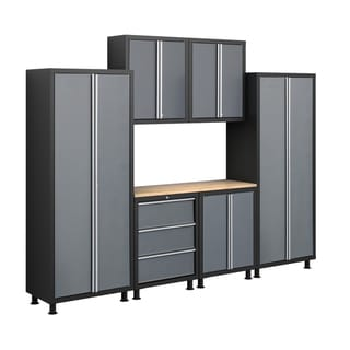 NewAge Products Bold Series 7-piece Grey Cabinetry Set