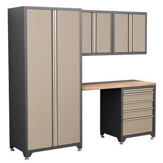 NewAge Products Pro Series Taupe 5-piece Cabinetry Set