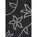 Handmade Tufted Floridly Black Wool Rug (8' x 10')
