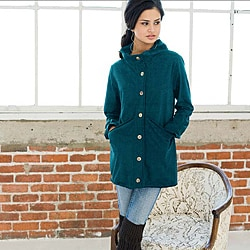 Teal Organic Cotton Weekender Cardigan (Peru)