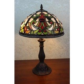 Maya 1-light Tiffany-style Table Lamp, 12-inch
