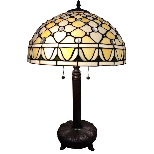 Maya 1-light Tiffany-style 16-inch Table Lamp