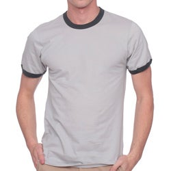 American Apparel Fine Jersey Ringer Short Sleeve T-Shirt (Small)