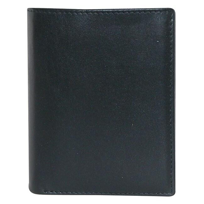 Buxton Men's Black Houston Deluxe Bi-fold Wallet