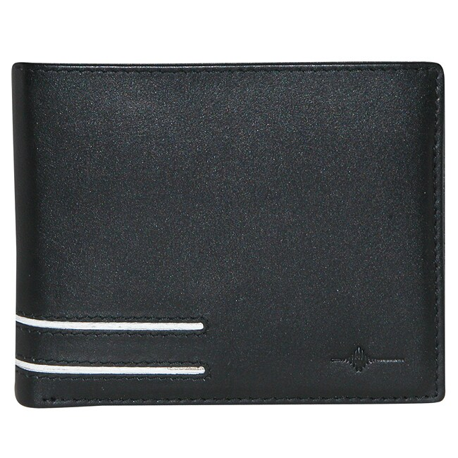 Buxton Men's Luciano Credit Card Bi-fold Wallet