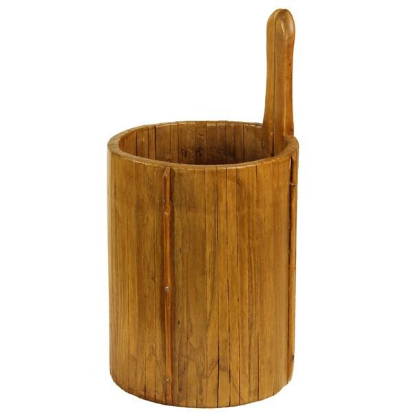 Vintage Wooden Ladle Bucket