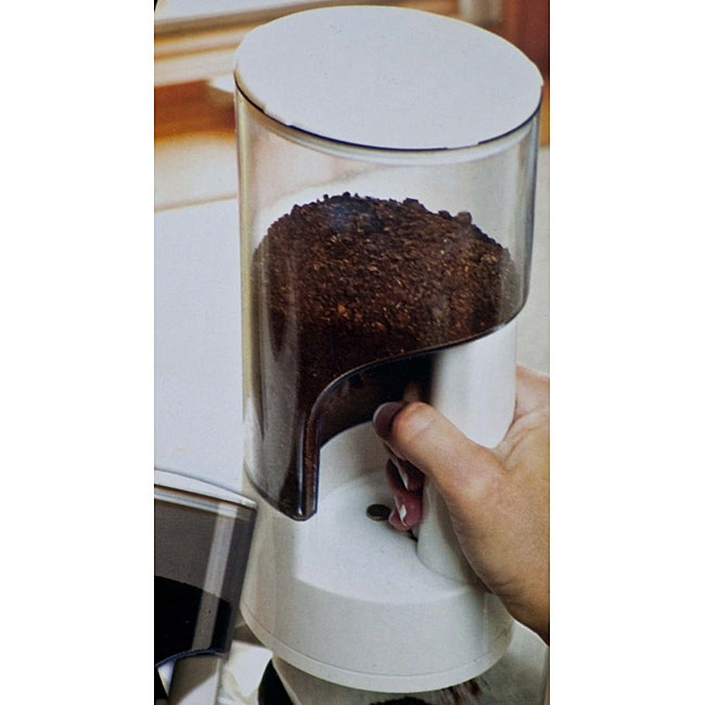 Coffee Grounds Dispenser and Storage Canister