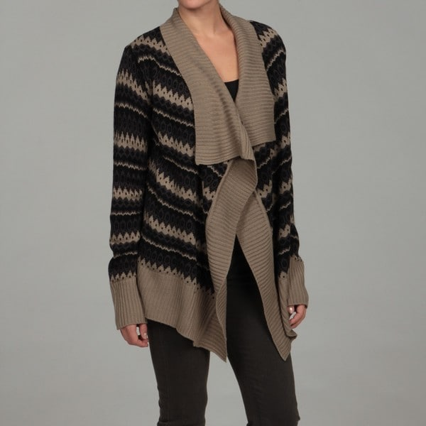 Razzle Dazzle Women's Taupe Patterned Shrug