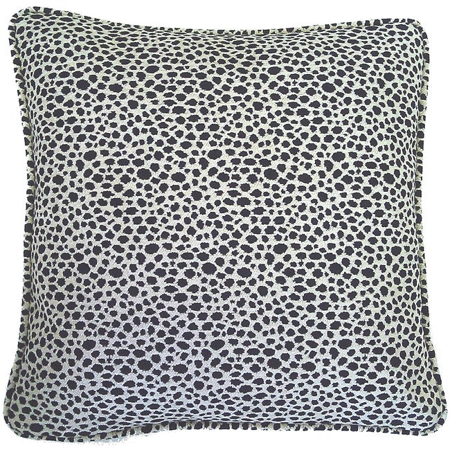 Corona Decor European Woven Animal Print Decorative Throw Pillow