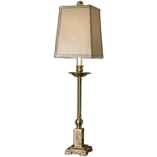Uttermost lowell aged bronze buffet table lamp 13933558 for Cirrus bronze floor lamp