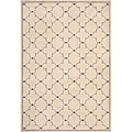 Miramar Ivory/ Grey Contemporary Area Rug (9'10 x 12'9)