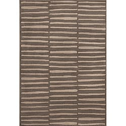 Miramar Grey/ Grey Contemporary Area Rug (9'10 x 12'9)