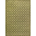 Miramar Green/ Brown Transitional Area Rug (9'10 x 12'9)