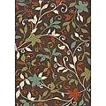 "Brown/Green Outdoor Polypropylene Area Rug (8'6"" x 13')"