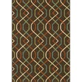 Brown/ Ivory Outdoor Area Rug (8'6 x 13')