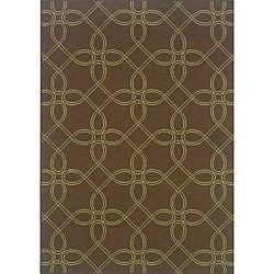 Brown/ Green Outdoor Area Rug (8'6 x 13')