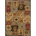 Berkley Blue/ Beige Transitional Area Rug (9'10 x 12'9)