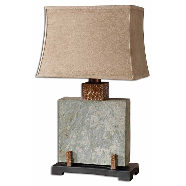 Uttermost Indoor Square Slate Table Lamp  Overstock