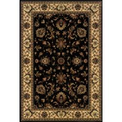 Astoria Black/ Ivory Traditional Area Rug (10' x 12' 7)