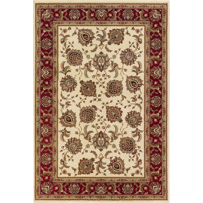 Style Haven Astoria Ivory/ Red Traditional Area Rug (10' x 12'7) at Sears.com