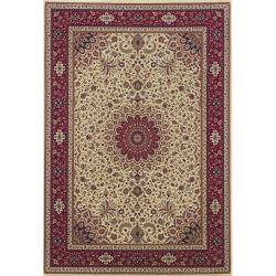 Astoria Ivory/ Red Oriental Area Rug (10' x 12'7)