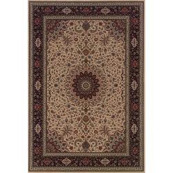 Astoria Ivory/ Black Traditional Area Rug (10' x 12'7)
