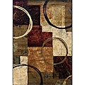 Brown/ Black Contemporary Area Rug (10' x 13')