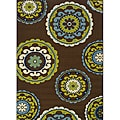 "Green Outdoor Polypropylene Area Rug (8'6"" x 13')"