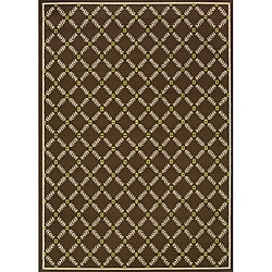Brown/Ivory Outdoor Area Rug (8'6 x 13')