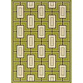 Green/Ivory Outdoor Geometric Area Rug (8'6