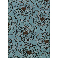Blue/Brown Outdoor Area Rug (8'6 x 13')