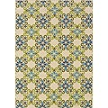 Ivory/ Blue Outdoor Area Rug (8'6 x 13')