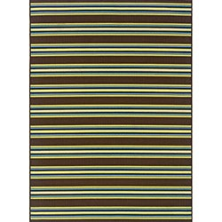 Brown/Green Outdoor Area Rug (8'6 x 13')
