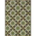 Brown/ Green Floral Outdoor Area Rug (8'6 x 13')