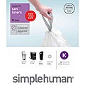 simplehuman Custom Fit 10-gallon Trash Can Liners (Pack of 50)