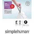 simplehuman Custom Fit 13 to 16-gallon Trash Can Liners (Pack of 50)