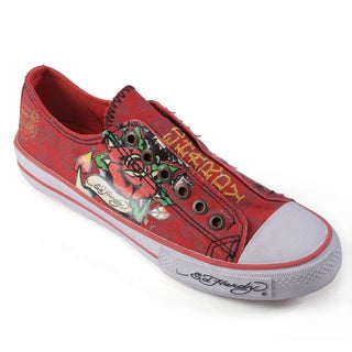 Ed Hardy Women's Lowrise Graphic Print Slip-on Sneakers
