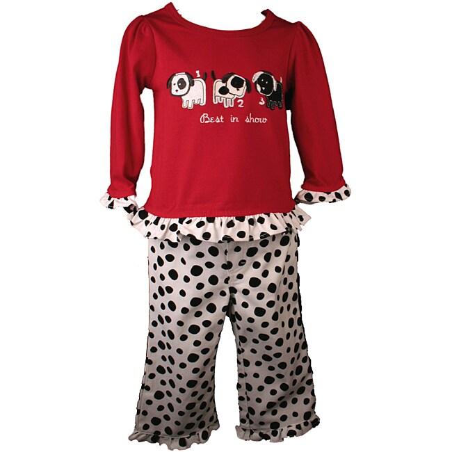 BT Kids Puppy Print Pant Set