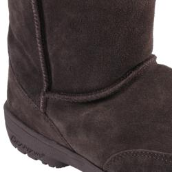 Bearpaw Womens Meadow 10-inch Sheepskin-lined Lug Sole Suede Boot