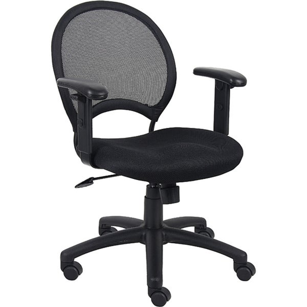 Boss Mesh Back Task Chair with Adjustable Arms