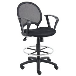 Boss Mesh Back Drafting Chair with Loop Arms