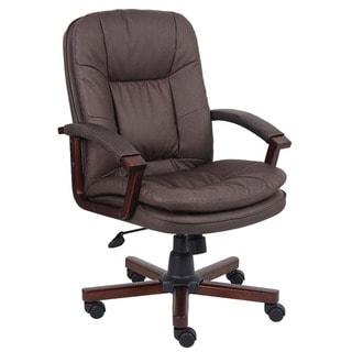 Boss Versailles LeatherPlus Executive Chair